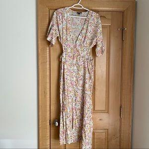 Top shop spring floral button down midi dress